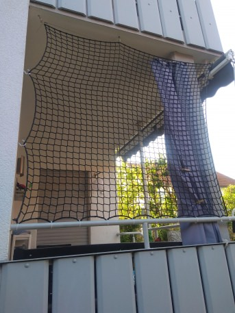 Balkon-Sicherheitsnetz per m² (nach Maß) | Schutznetze24