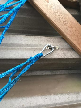 Nirosta stainless steel loop with drilled holes M6 | Safetynet365