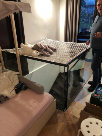 Staircase Fall Safety Net by the m² (Custom-Made) | Safetynet365