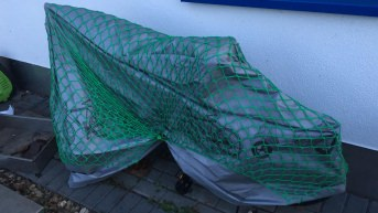 Net for Securing Cargo 1.50 x 2.70 m, Green | Safetynet365