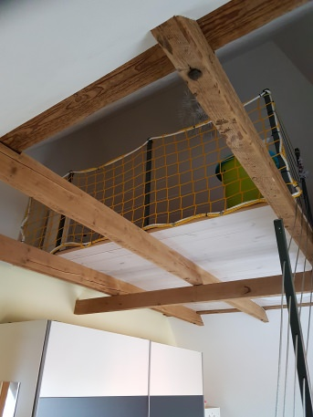 Fall Safety Net for Staircase Holes (Custom-Made) | Safetynet365