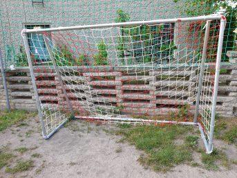 Fußballtornetz in Vereinsfarben nach Maß | Schutznetze24