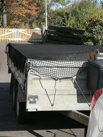Anhänger-Abdecknetz 2,50 x 3,50 m - schwarz | Schutznetze24