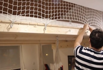 Custom-Made Bunk Bed Safety Net by the m² | Safetynet365