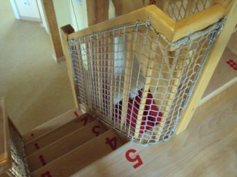 Staircase Safety Net by the m² (Made to Measure) | Safetynet365