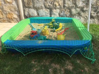 Sandpit Cover Net by the m² (Made to Measure) | Safetynet365